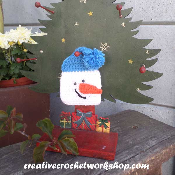 SNOWMAN GIFT ENVELOPE | FREE CROCHET PATTERN | CREATIVE CROCHET WORKSHOP