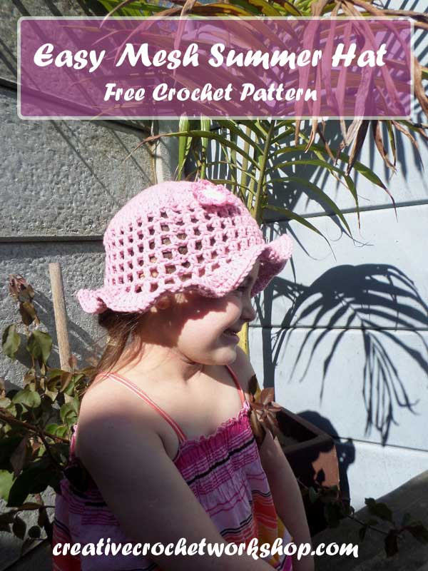 Easy Mesh Summer Hat | Crafting A Rainbow Of Hope | Creative Crochet Workshop