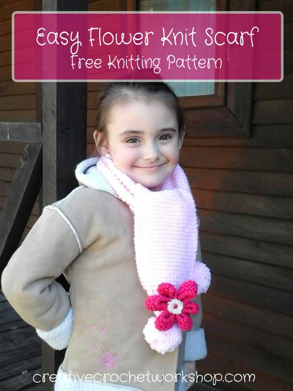 Easy Flower Knit Scarf - Free Knitting Pattern | Creative Crochet Workshop