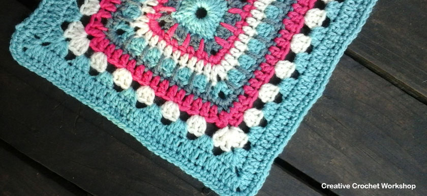 Beautifully Bold Granny Square Feature Image | Creative Crochet Workshop