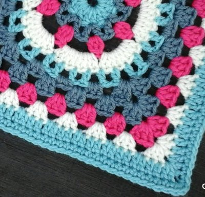 Eight Petal Flower Wheel Granny Square   Creative Crochet Workshop - This Eight Petal Flower Wheel Granny Square is the 26th Afghan Block in the Crochet A Block Afghan 2017 Crochet Along!@creativecrochetworkshop