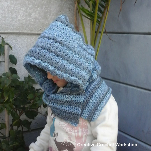 Winter Blues Hooded Cowl | Creative Crochet Workshop