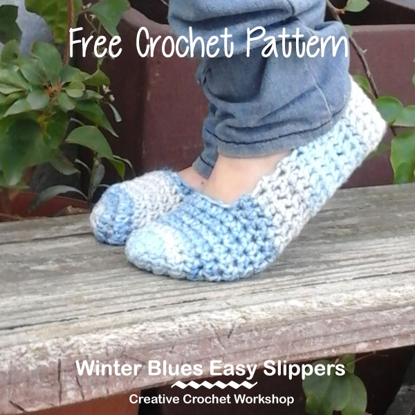Winter Blues Easy Slippers | Creative Crochet Workshop