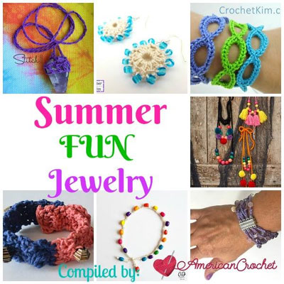 Summer Fun Jewelry | American Crochet | Free Crochet Pattern Round Up