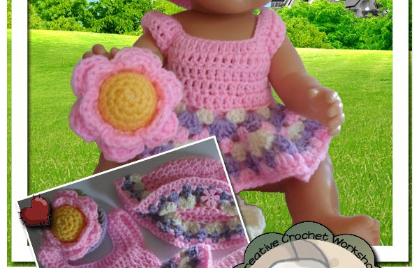 Baby Doll Flower Set   Crissy's Doll Boutique @crissysdollboutique 43cm (17 inch) baby doll