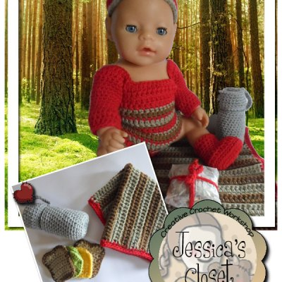 Jessica's Closet - Baby Doll Picnic Set | Crissy's Doll Boutique @crissysdollboutique 43cm (17 inch) baby doll