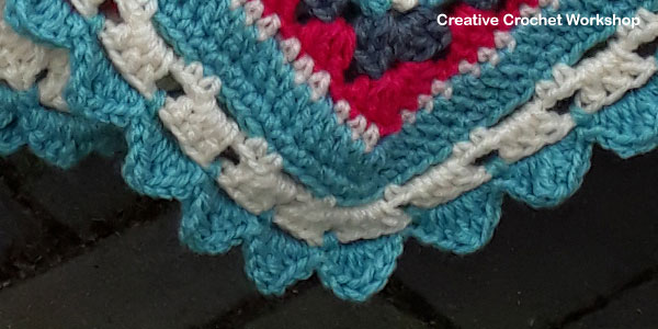Crochet A Block 2017 Afghan Border | Creative Crochet Workshop @creativecrochetworkshop #freecrochetpattern #grannysquare