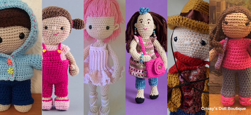 8 Cute Doll Friends Pattern Finds Round Up | Crissy's Doll Boutique @crissysdollboutique