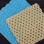 Aqua and Lemon Spa Shells Washcloths - Free Crochet Pattern | Creative Crochet Workshop @creativecrochetworkshop #crochet #freecrochetpattern #spacrochetgiftalong