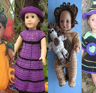 Halloween Doll Dress Up – Pattern Finds Round Up