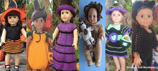 Halloween Doll Dress Up Pattern Finds Round Up | Crissy's Doll Boutique @crissysdollboutique