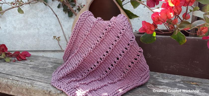 Horizontal Open Stitch Dishcloth - Knitted Kitchen Blog Hop | Creative Crochet Workshop @creativecrochetworkshop #knittedkitchen