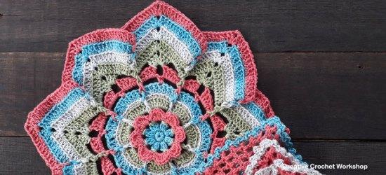 Flower Burst Potholder   Creative Crochet Workshop #ChristmasGiftAlong2017