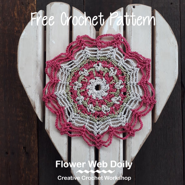 Flower Web Doily | Creative Crochet Workshop #ChristmasGiftAlong2017