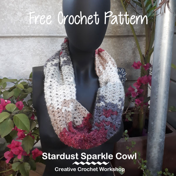 Stardust Sparkle Cowl | Creative Crochet Workshop #ChristmasGiftAlong2017