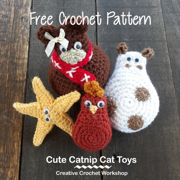 Cute Catnip Cat Toys | Creative Crochet Workshop #ChristmasGiftAlong2017