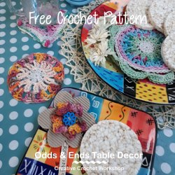 Odds and Ends Table Decor | Creative Crochet Workshop #freecrochetpattern #scrapsofyarn