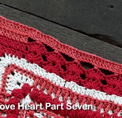 Psychedelic Love Heart Part Seven - Free Crochet Pattern | Creative Crochet Workshop | #ccwpsychedelicloveheart #crochetalong #crochet @creativecrochetworkshop
