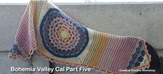 Bohemia Valley Cal Part Five   Creative Crochet Workshop #ccwbohemiacrochetalong #crochetalong #freecrochetpattern #crochet @creativecrochetworkshop