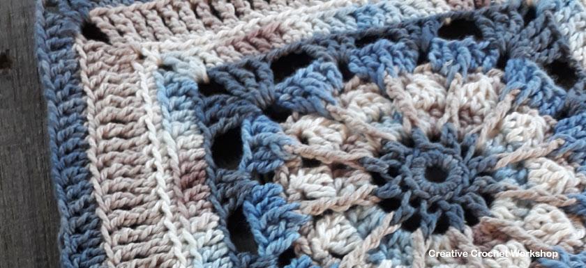 Cordelia Afghan Square | Creative Crochet Workshop @creativecrochetworkshop #freecrochetpattern #grannysquare #afghansquare #crochetalong #ccwcrochetablock2018