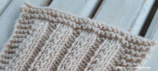 Fancy Slip Stitch Rib Knit Square - Free Knitting Pattern   Creative Crochet Workshop #KALCorner