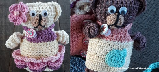 Fold Up Teddy Crochet Play Set Accessories Part One | Free Crochet Along | Creative Crochet Workshop #crochet #crochetalong #crochetplay #ccwfoldupteddybag