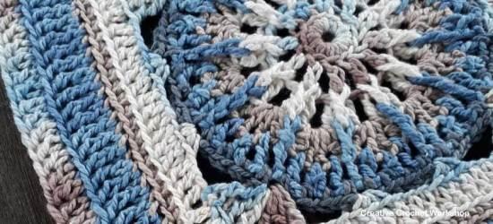 Galia Afghan Square | Creative Crochet Workshop @creativecrochetworkshop #freecrochetpattern #grannysquare #afghansquare #crochetalong #ccwcrochetablock2018