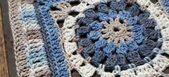 Varuna Afghan Square | Creative Crochet Workshop @creativecrochetworkshop #freecrochetpattern #grannysquare #afghansquare #crochetalong #ccwcrochetablock2018