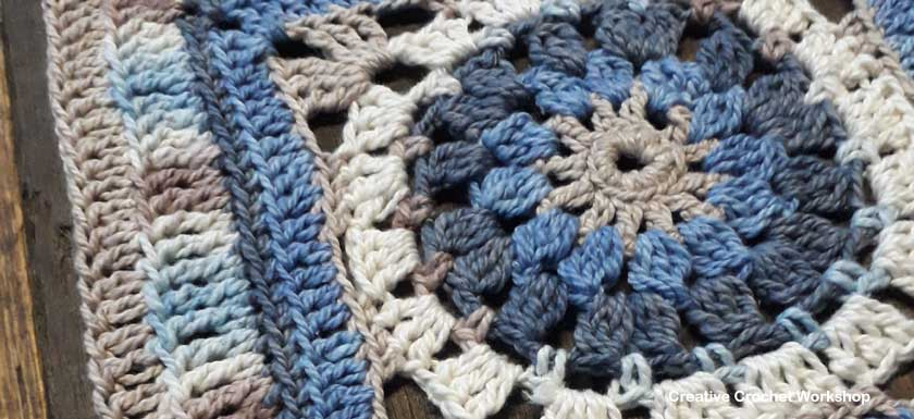 Varuna Afghan Square   Creative Crochet Workshop @creativecrochetworkshop #freecrochetpattern #grannysquare #afghansquare #crochetalong #ccwcrochetablock2018