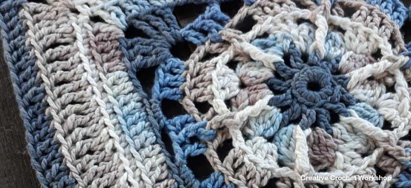 Samudra Afghan Square   Creative Crochet Workshop @creativecrochetworkshop #freecrochetpattern #grannysquare #afghansquare #crochetalong #ccwcrochetablock2018