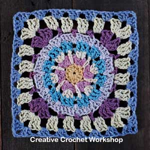 Scrappy Afghan Square 2018 Number Four Tutorial - Free Crochet Pattern | Creative Crochet Workshop @creativecrochetworkshop #freecrochetpattern #grannysquare #afghansquare #crochetalong #ccwcrochetablock2018