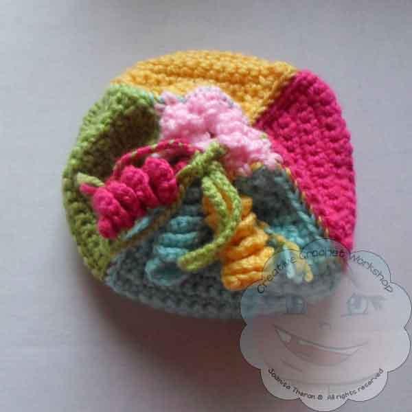 Little Treasure Pouch - Free Crochet Pattern | Creative Crochet Workshop #freecrochetpattern #crochet @creativecrochetworkshop