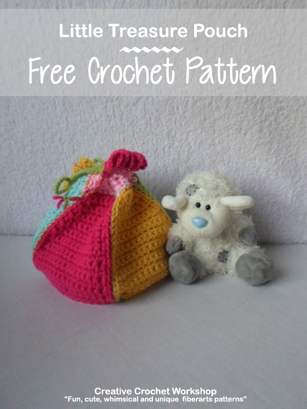 Little Treasure Pouch - Free Crochet Pattern | Creative Crochet Workshop #freecrochetpattern #crochet @creativecrochetworkshop