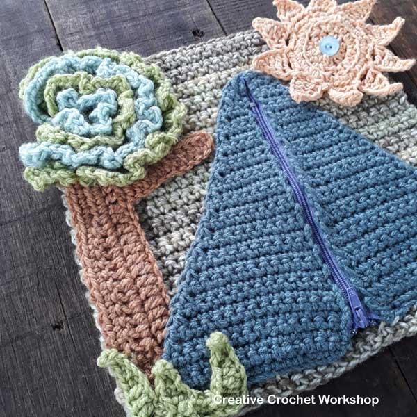 My Camping Playbook Part One   Free Crochet Pattern   Creative Crochet Workshop @creativecrochetworkshop #ccwcampingplaybookcal #freecrochetalong #crochetquietbook