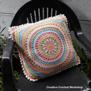 Scrapsadelic Groovy Cushion by Joanita Theron