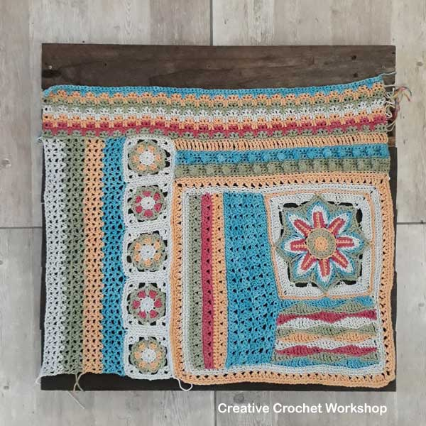 Scrapsadelic Groovy Blanket Part Five - Free Crochet Along | Creative Crochet Workshop #ccwscrapsadelicgroovyblanket #crochetalong #scrapsofyarn