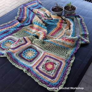 Scraps Of Yarn Series - Scrapsadelic Groovy Blanket Part Eight - Free Crochet Along | Creative Crochet Workshop #ccwscrapsadelicgroovyblanket #crochetalong #scrapsofyarn