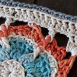 Orange Blue Medley Square - Free Crochet Pattern | Creative Crochet Workshop #freecrochetpattern #crochet #crochetsquare