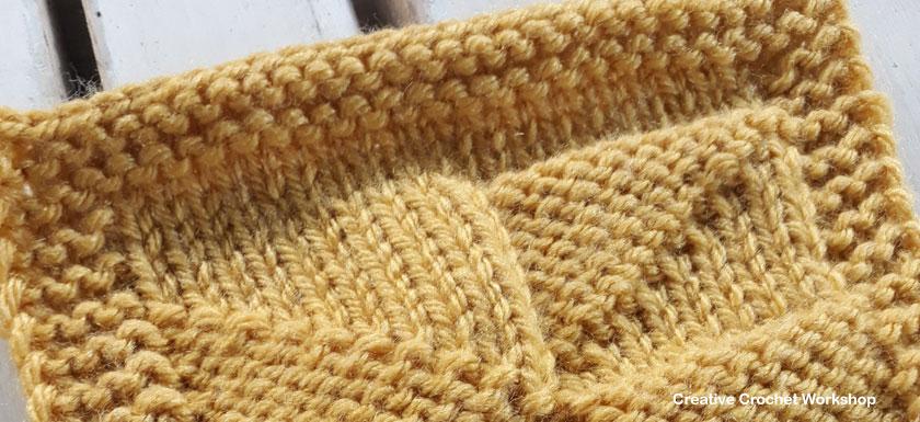 Pinwheel Knit Square - Free Knitting Pattern   Creative Crochet Workshop #KALCorner