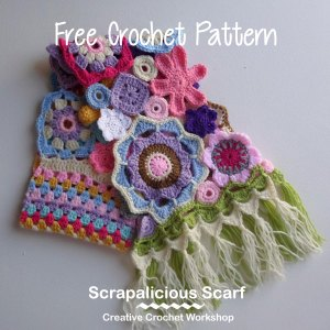 Scraps Of Yarn Series - Scrapalicious Scarf - A Free Crochet Along | Creative Crochet Workshop #ccwscrapaliciousscarf #crochetalong #scrapsofyarn
