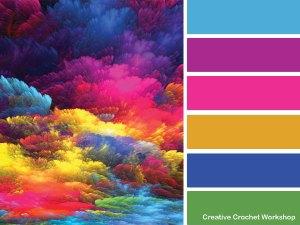 Rainbow Wheel Bag - colorway suggestions | Creative Crochet Workshop #freecrochetpattern #crochet