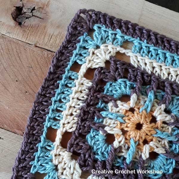 Trellis Square - Free Crochet Pattern | Creative Crochet Workshop #freecrochetpattern #crochet #crochetsquare