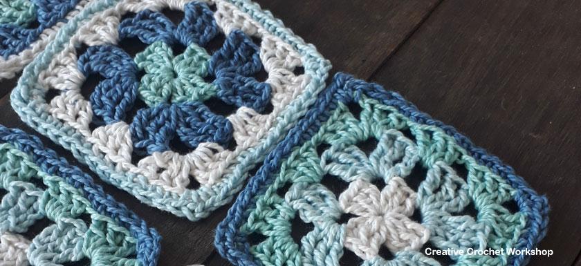 Revival Granny Square Sock Bag | Creative Crochet Workshop #freecrochetpattern #crochet