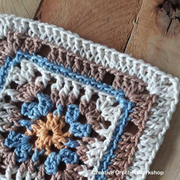 Happy Trellis Square - Free Crochet Pattern | Creative Crochet Workshop #freecrochetpattern #crochet #crochetsquare