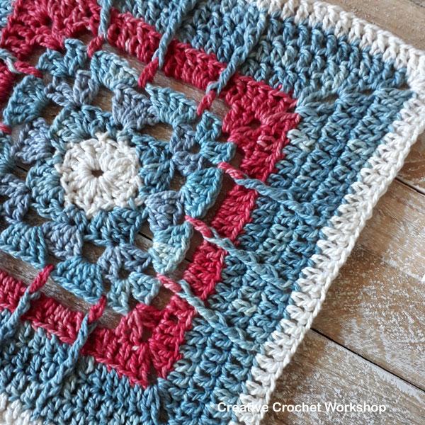 Framed Posted Shells Square - Free Crochet Pattern   Creative Crochet Workshop @creativecrochetworkshop #freecrochetpattern #grannysquare #afghansquare #crochetalong #ccwcrochetablock2019