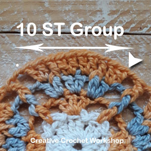 Framed Posted X Wheel Square - Free Crochet Pattern | Creative Crochet Workshop @creativecrochetworkshop #freecrochetpattern #grannysquare #afghansquare #crochetalong #ccwcrochetablock2019