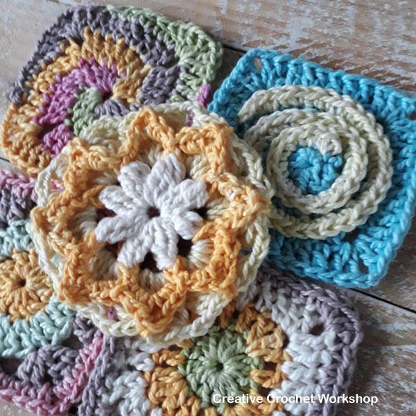 Scrapsrific Rainbow Blanket Part One - Free Crochet Pattern   Creative Crochet Workshop @creativecrochetworkshop #freecrochetpattern #grannysquare #afghansquare #crochetalong #ccwscrapsrificrainbowblanket
