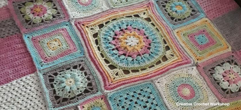 Scrapsrific Rainbow Blanket Part Seven - Free Crochet Pattern | Creative Crochet Workshop @creativecrochetworkshop #freecrochetpattern #grannysquare #afghansquare #crochetalong #ccwscrapsrificrainbowblanket