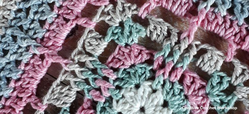 Danica Afghan Square - Free Crochet Pattern | Creative Crochet Workshop @creativecrochetworkshop #freecrochetpattern #grannysquare #afghansquare #crochetalong #ccwcrochetablock2019