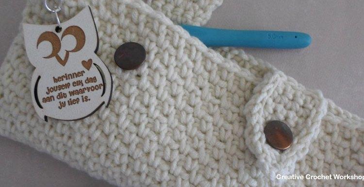 Woven Hook Purse - Free Crochet Pattern | Creative Crochet Workshop #freecrochetpattern #crochet @creativecrochetworkshop